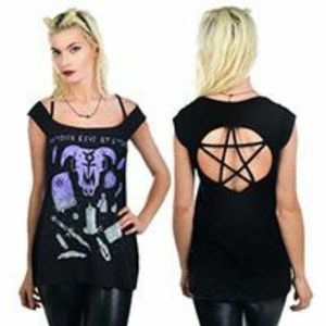 Rat Baby Witches Pentagram Top